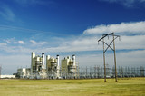electric power plant poster