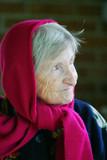 elderly lady poster