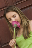 flower woman poster