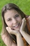 smiling girl poster