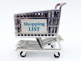 shopping cart closeup poster