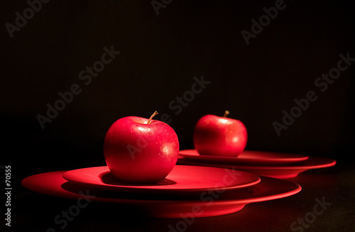 poster of red apple