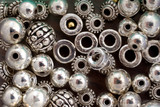 silver beads, background poster