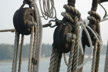 rope and pulleys