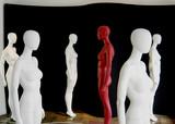 mannequins en groupe poster