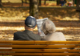 relaxation of the aged couple poster