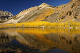 mountain lake, fall colors poster