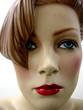 mannequin rousse à mèche