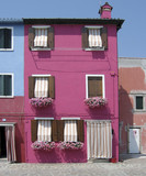 colorful burano house poster