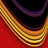 curved line pattern poster