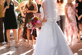 bride boquest toss poster
