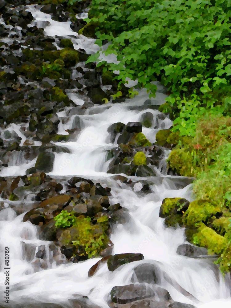 kaskada strumień rzeki - powiększenie