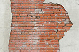 torn brick wall background poster