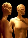 deux mannequins nus poster