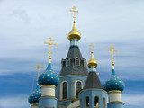 domes of orthodox  church poster