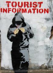 threatening graffiti in east london