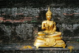 gold buddha statue poster
