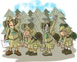 hiking scouts