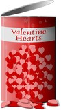 can of valentine hearts poster