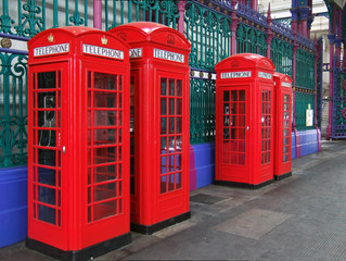 london telephone kiosks in smithfield meat market