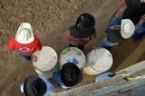 hats and barrels poster