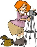 female photographer poster