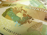 canadian dollar close-up poster