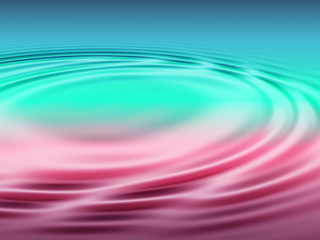 concentric circles in water