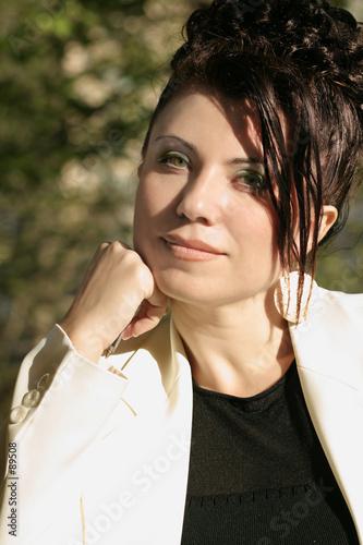 poster of sunlit businesswoman