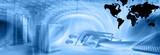 web hosting template-blue poster