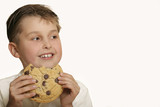 boy with cookie poster
