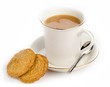 hot drink and cookies