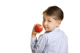 boy with fruit poster