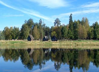 autumn in park.
