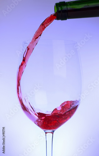 wine being poured -  with colored lighting