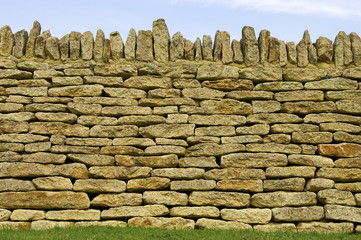 dry stone wall detail