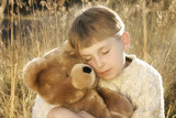 boy and teddy poster