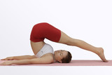 yoga;halasana (plow pose) poster
