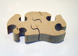 wooden puzzle poster
