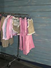 clothes rail outside shop