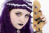 goth girl bass player poster