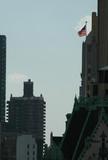 usa flag new york city poster