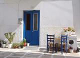 greek islands street scene poster