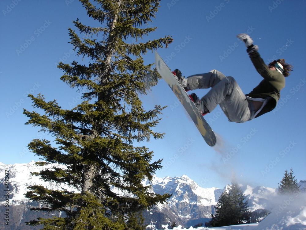 snowboard snowboarder śnieg - powiększenie