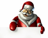 santa claus with sign edge poster