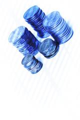 blue coins