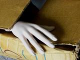 la main dans la boite poster