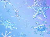 3d falling snowflakes poster