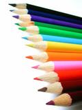 sharp pencil crayons poster