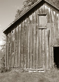 wood barn poster